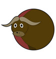 bull head sticker icons vector image