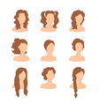 Different hair style for woman vector image