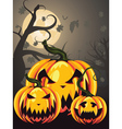 Scary Pumpkins in Forest2 vector image