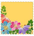 Springtime Colorful Paper Cut Flower vector image