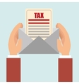 tax payment budget return vector image