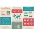 Flat vintage social media infographics vector image