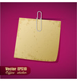 Realistic scrap of paper with clip vector image