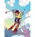 Brave Ski Freerider vector image vector image