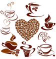coffee cups 2 380 vector image