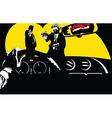 Film Noir car background vector image vector image