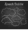 chalk drawings Set of speech bubble Cloud vector image vector image