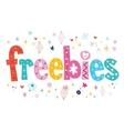 freebies vector image