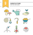 Garden and Plants Icons vector image