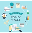 Banner background concept from the school and vector image