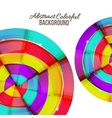 Abstract colorful rainbow curve background design vector image