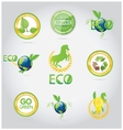 abstract nature symbols and emblems set vector image