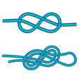 eight knot and double 8 knot instruction against vector image