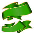 Green ribbon collection isolated on white backgrou vector image