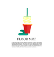Mopping service vector image