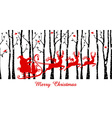 Santa in birch tree forest vector image