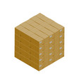 stack of cardboard boxes isometric icon vector image