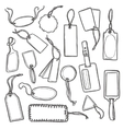 Tags Sketch Set vector image