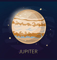 The planet Jupiter vector image