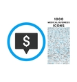 Bank Map Pointer Rounded Symbol With 1000 Icons vector image