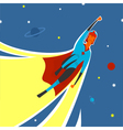 Superhero in space vector image vector image