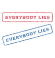 everybody lies textile stamps vector image