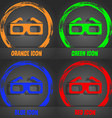 3d glasses icon Fashionable modern style In the vector image