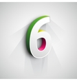 3d Number Six vector image