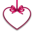 Border shape form Heart from ribbon Valentine day vector image vector image