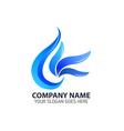 Blue Leaf Element Logo Icon vector image