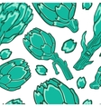 A colorful artichokes seamless pattern vector image