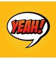 cartoon comic text pop art explosion vector image