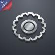 cogwheel icon symbol 3D style Trendy modern design vector image