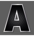 Metal grid font - letter A vector image
