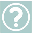 question mark in a circle the white color icon vector image