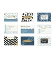 Set of Business Cards with hand drawn elements vector image