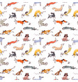 hand drawn doodle cute dogs seamless pattern with vector image vector image