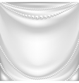silk drapery and pearl necklace vector image vector image