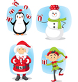 Christmas Characters Set Cartoon vector image vector image
