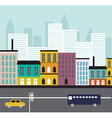 Abstract Street landscape vector image
