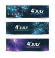 USA Independence day banners set with vector image vector image