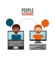 people sharing design vector image