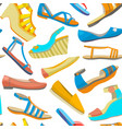 background with summer women shoes vector image