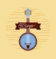 banjo jazz instrument musical festival celebration vector image