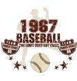 baseball team vector image