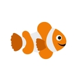 Clownfish flag icon flat style vector image