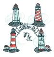 Lighthouse Sketch Set vector image