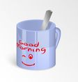 morning cup vector image