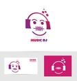 Music dj logo icon vector image