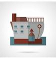 Passenger ship flat icon vector image